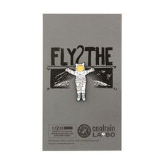 FLY 2 THE MOON Badge WH