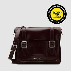 AB092601 11 VEGAN SATCHEL CHERRY RED OXFORD RUB OFF