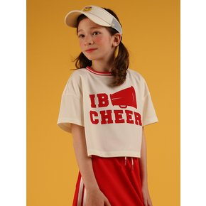 [40% sale] IB cheer cropped jersey tee