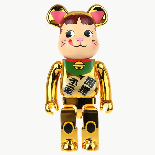 1000% BEARBRICK MANEKINEKO PEKO GOLD PLATED