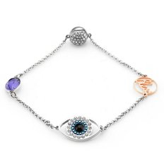 SWAROVSKI 스와로브스키 5365749 REMIX COLLECTION EYE SYMBOL STRAND 팔찌