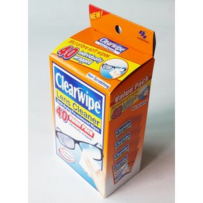Premium Lens Cleaning Wipe KOBAYASHI CLEARWIPE LENS CLEANER 고바야시제약 렌즈클리너 클리어와이프 40매