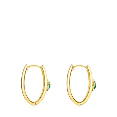 [최초출시가 309,000원][SSG 단독]Large Silver Vermeil and Malachite Icon Color Earrings/귀걸이/015433560