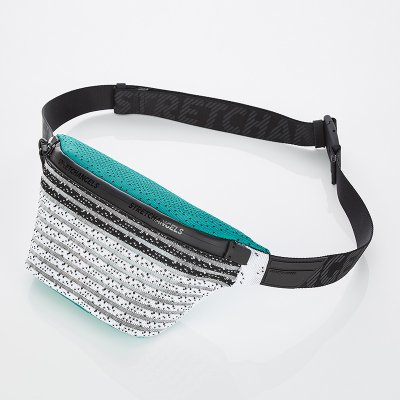 스트레치엔젤스[S.K.N] Dot stripe knit fanny-bag S (Green)