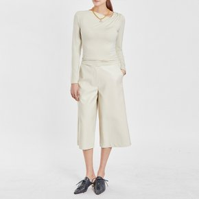 / mustbuy vegan leather culottes(3 colors)