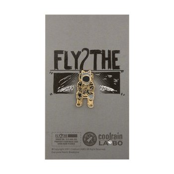 FLY 2 THE MOON Badge BK