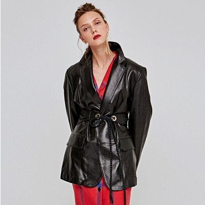 [DEANS] LAMBSKIN SINGLE JACKET_BLACK