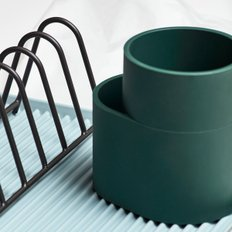 DISH DRAINER CUP DARK GREEN