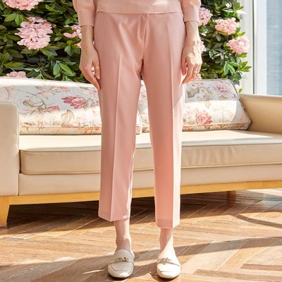 JUICY STRAIGHT SLACKS_PINK (2222647)