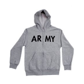 [rothco] ARMY P/T Zip Up Hoodie grey