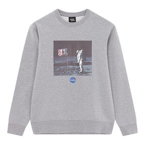 DESIGN UNITED NASA 플리스 맨투맨 MELLANGE GREY (S~XXL)