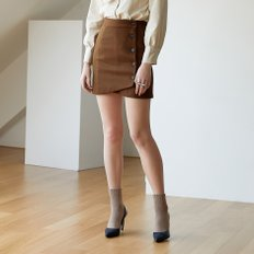 [30%할인적용가]diagonal wrap skirt_brown