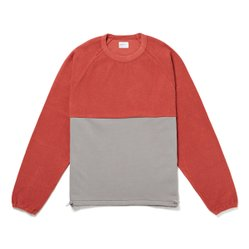 RIBLESS SWEAT RED/GREY