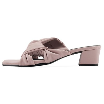 뮬 OS9093 Pleats ribbon mule 라벤더