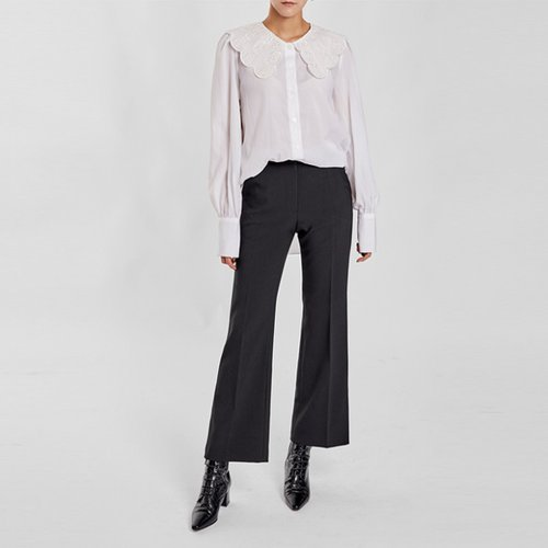 / feminine flared slacks