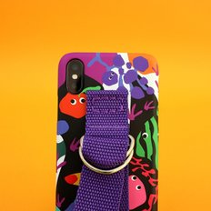 SUN CASE GRAPHIC FRUIT BLACK PURPLE(BELT)