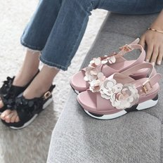 kami et muse Spangle corsage paltform sandals_KM18s205