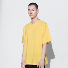 111 EMBROIDERED OVERSIZED T-SHIRT(YELLOW)(man)