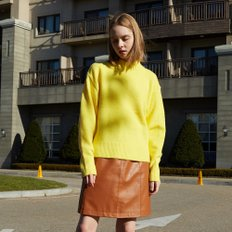[레이브] Oversized High Neck Knit (Yellow)_VK8WP0510