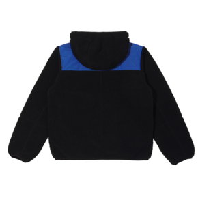 Color Block Fleece Jacket Black