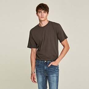 [DEANS] STEADY ROUND T-SHIRTS_CHARCOAL