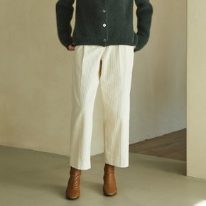 [블랭크공삼]corduroy tuck pants (cream)
