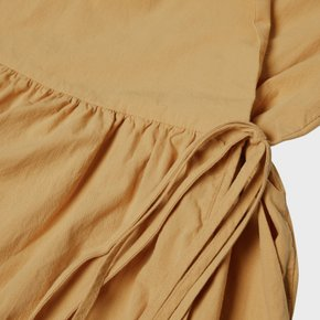 L19SS Cotton Wrap Dress (4 sl) Mustard