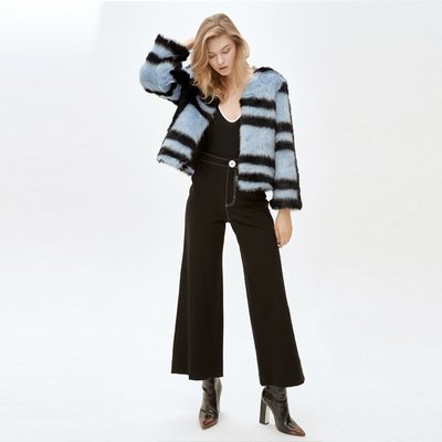 CINDY random stripe jacket _ blue