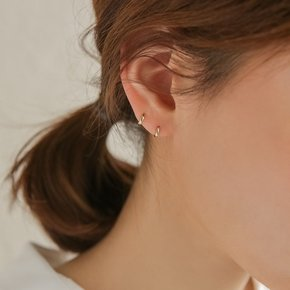 14k gold round mini onetouch earring (14K 골드)