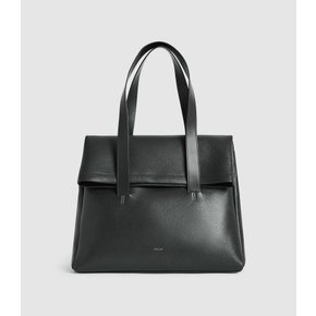 LEATHER FOLD OVER TOTE