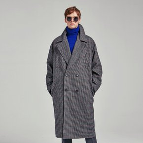 CLASSIC DOUBLE CHECK COAT_CHARCOAL