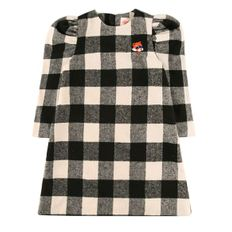 Lesser panda wool check dress / BP8418404