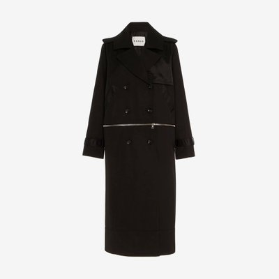 CAALO 칼로 CONVERTIBLE HOODED TRENCH COAT BLACK 102B