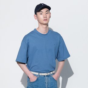 111 EMBROIDERED OVERSIZED T-SHIRT(SKY BLUE)(man)