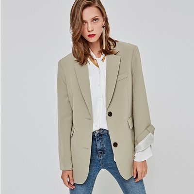 [DEANS] MIDDLE SINGLE JACKET_LIGHT KHAKI