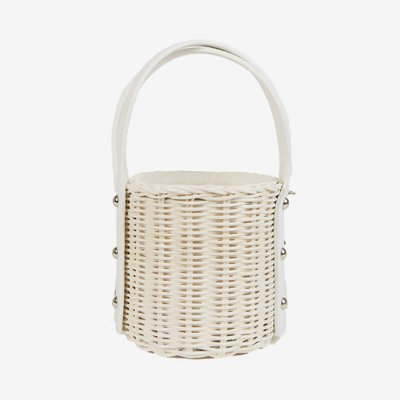 WICKER WINGS 위커윙즈 QUAN BAG WHITE
