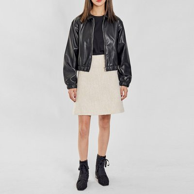 / wellmade faux-leather blouson(1 color)