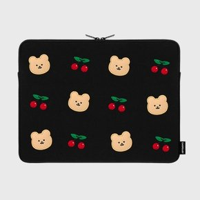 Dot cherry bear-15inch notebook pouch