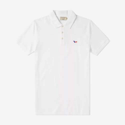[PRE-ORDER] 20SS POLO TRICOLOR FOX PATCH WHITE MEN AM00200KJ7002