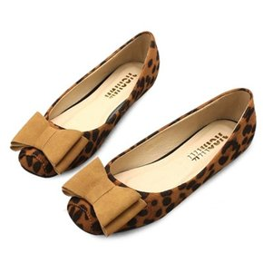 kami et muse Over ribbon leopard flat_KM18w077