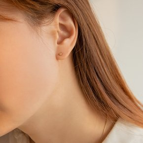 14k gold basic ball earrings (14K 골드)