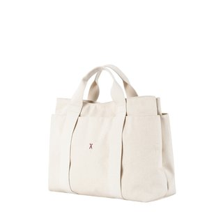 Stacey Daytrip Tote Canvas Ivory 3 colors