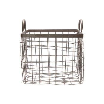 SQUARE BASKET W/HANDLE SMALL