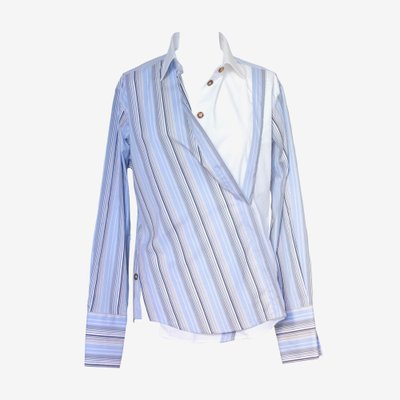 ANNA GALAGANENKO 안나 갈라가넨코 STRIPY LOOSE FIT SHIRT AG-AW19-5