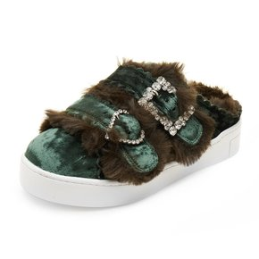 [파주점] Fur mule sneakers(green)