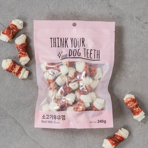 Think your Dog Teeth 소고기우유껌 15P