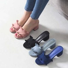 kami et muse Middle heel Frill slippers_KM17s239