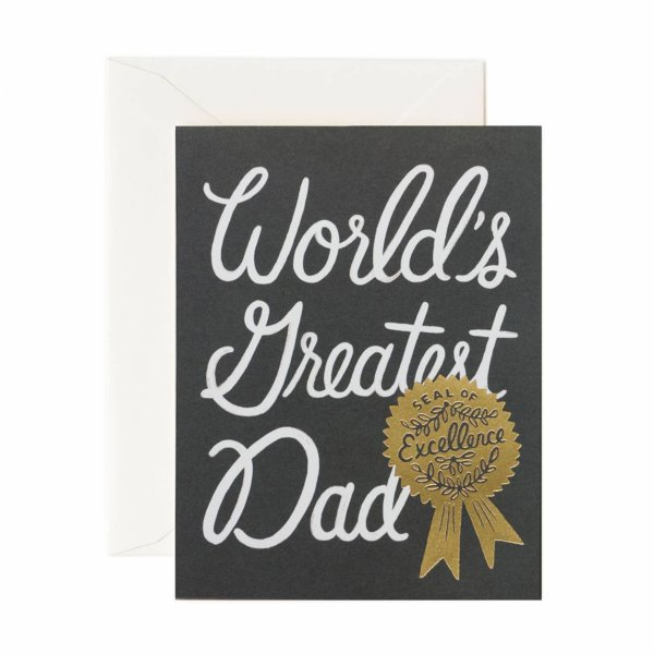 WORLD`S GREATEST DAD CARD