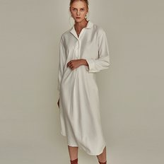 ROBE SLIT LONG SH OPS_IVORY