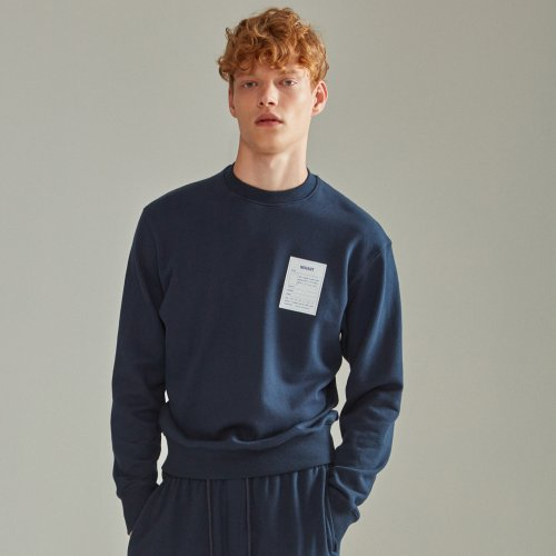 [NOHANT] NAME LABEL SWEATSHIRT NAVY
